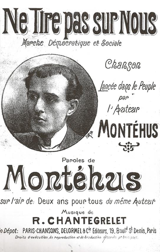 Ne tire pas sur nous, chanson de Montéhus